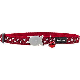 Dingo rouge chat collier rouge Rdstyle étoile blanche Adj 0-32 Cm