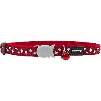 Red Dingo Cat Collar rojo Rdstyle estrella blanca Adj 0-32 Cm