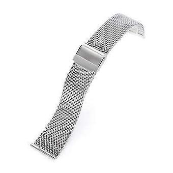 Strapcode Uhr Armband 20mm, 22mm konische Milanese Draht Mesh-Band, poliert
