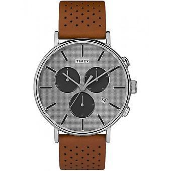 Timex мужские часы Фэрфилд сверхновой 41 мм кожаный браслет TW2R79900