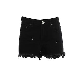 Oneteaspoon 22967black Women's Black Cotton Shorts