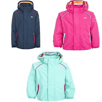 Trespass Childrens Girls Lunaria Waterproof Jacket