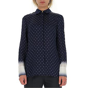 Tory Burch 56818424 Women's Blue Silk Shirt