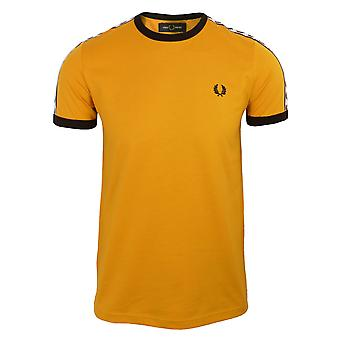 Fred perry men's gold taped ringer t-shirt