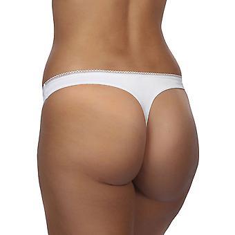 Después de Eden 10.35.6100-010 Mujeres's Kammy White Panty Thong