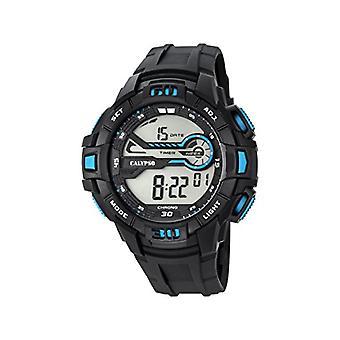 Calypso-digitaal horloge, met digitale LCD-scherm en kunststof Straps, kleur: zwart, 6 K5695