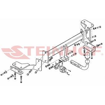 Steinhof Towbar (fixiert 2 Schrauben) für Hyundai TUCSON 2015-2018