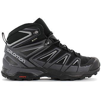 Salomon X ULTRA 3 MID GTX - GORE-TEX - Herren Wanderschuhe Schwarz-Blau 398674 Sneaker Sportschuhe