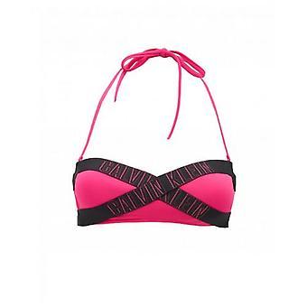 Calvin Klein Swimwear Logo Bandeau Bikini Top
