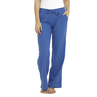 Mujer Color sólido Cintura acanalada Pantalón Pantalones Pantalones Azul 10