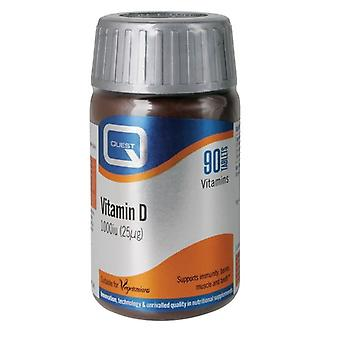 Quest Vitamins Vitamin D 1000iu Tabs 90 (601004)