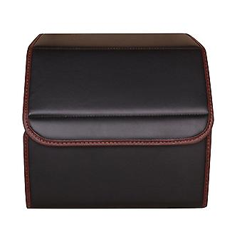 Faux Leather Quilted Foldable Car Storage Box