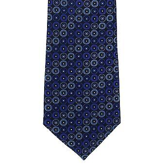 Michelsons di Londra Retro cerchi poliestere cravatta - rosso