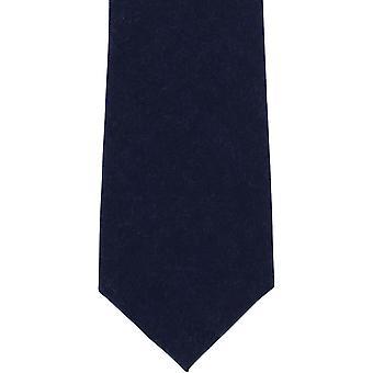Michelsons di Londra pianura cravatta in lana - Navy