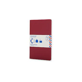 Moleskine post notebook zak cranberry rood