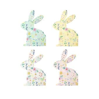 Meri Meri Patterned Wildflower Bunny Paper Party Napkins x 20