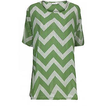 Masai Clothing Gavina Green Zig Zag Tunic