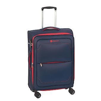 Kontrollere. IN Monaco Trolley M, 4 ruller, 68 cm, 79 L, blå-rød
