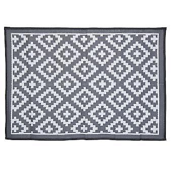 Charles Bentley vandtæt indendørs eller patio medium tæppe grå udendørs diamant mønster 120x172cm