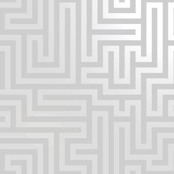 Glistening Maze Wallpaper Grey / Silver Holden 12910