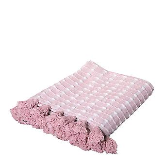 Bella Throw 125x150cm Pink/White