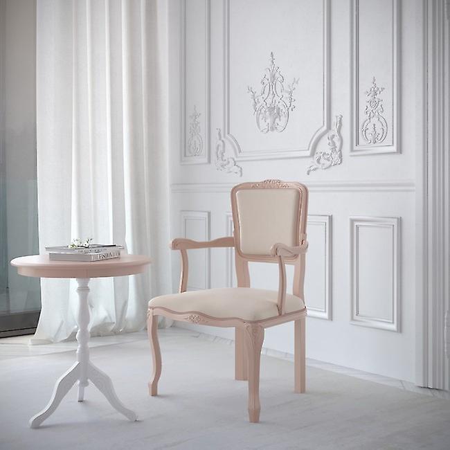 Tavolino Da Caffe' Antea Colore Rosa, Bianco in Legno Di Faggio, MDF, L50xP50xA45 cm