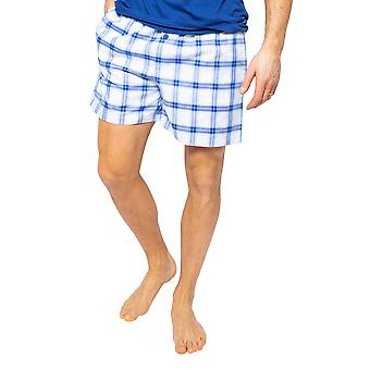 Cyberjammies Dylan 6507 Men's Blue Mix Check Pyjama Short