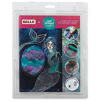 Gelli Arts - Jane Davenport Gel Printing Plate+seashell Plate