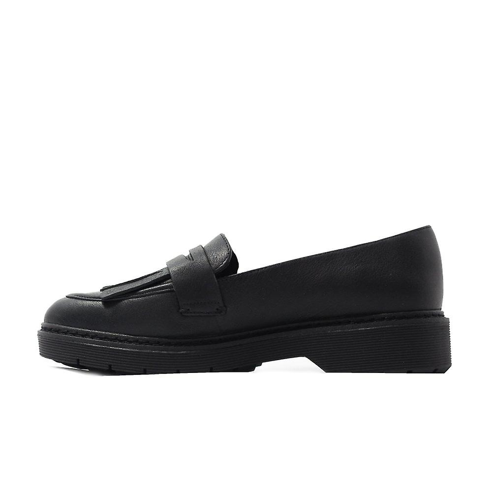 Clarks Witcombe Dawn Black Leather Womens Slip On Loafer Shoes