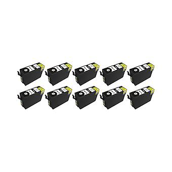 RudyTwos 10x Replacement for Epson Stag Ink Unit Black (Extra High Yield) Compatible with Stylus B42WD, BX525WD, BX535WD, BX625FWD, BX630FW, BX635FWD, BX925FWD, BX935FWD, SX525WD, SX535WD, SX620FW, Wo