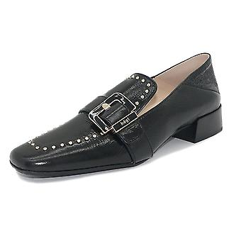 Högl Bridge 0-10 2520 Patent Leather Buckle Loafers In Black