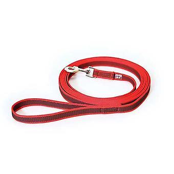 يوليوس-K9 اللون &; رمادي فائقة قبضة المقود الأحمر الرمادي العرض (0.7 & نقلا عن // 20mm) الطول (10ft / 3 م) مع مقبض، ماكس ل110 £ / 50 كجم الكلب