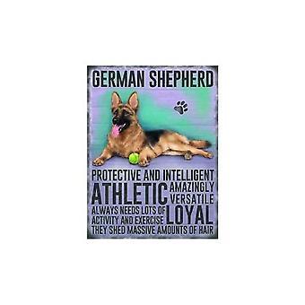 Tyske Shepherd hængende metal tegn