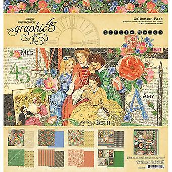 الرسم 45 النساء الصغيرات 12x12 بوصة مجموعة حزمة