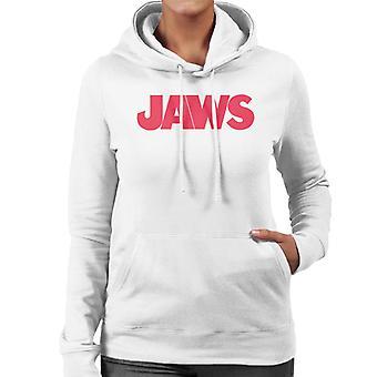 Jaws Text Logo Women's Hooded Sweatshirt