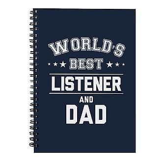 Verdens beste lytter og pappa Spiral Notebook