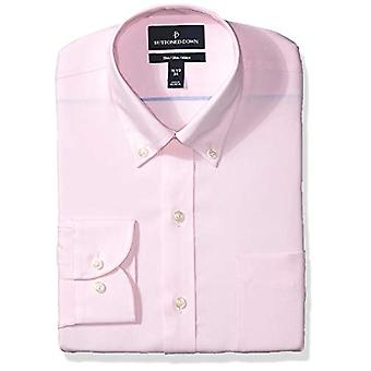 BUTTONED DOWN Men's Slim Fit Button Collar Solid Non-Iron Dress Shirt, Light ...