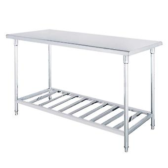 SOGA 80*70*85cm Commercial Catering Kitchen Stainless Steel Prep Work Bench
