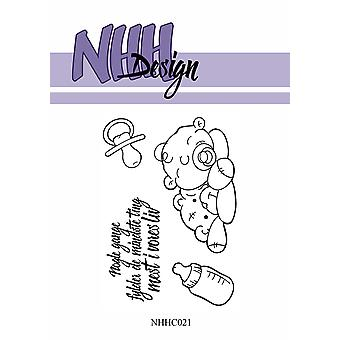 NHH Design Baby with Teddy Clear Stamps