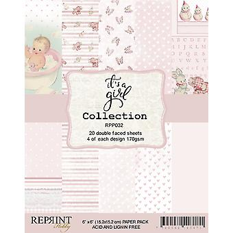 Reprint It´s a Girl Collection 6x6 Inch Paper Pack