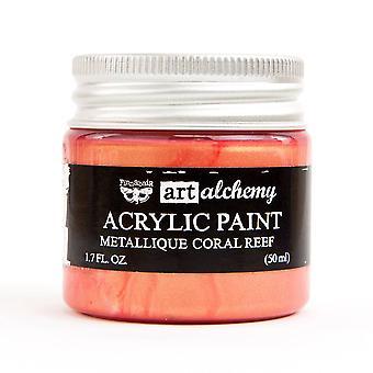Finnabair Art Alchemy Acrylic Paint Metallique Coral Reef