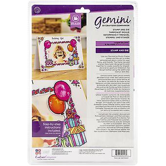 Gemini Birthday Party Photo Frame Stamp & Dies