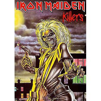 الحديد البكر ملصق النسيج القتلة العلم ألبوم تغطية الرسمية الأسود 70cm × 106cm
