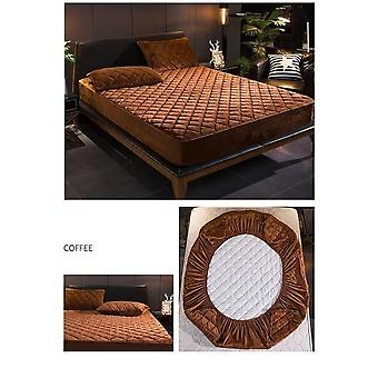Plush Warm Soft Crystal Velvet Thicken Quilted Mattress Cover