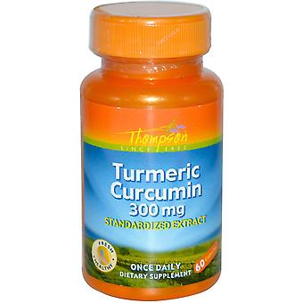 Thompson, Curcuma Curcumine, 300 mg, 60 Capsules