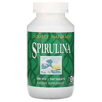 Source Naturals, Spirulina, 500 mg, 500 Tablets