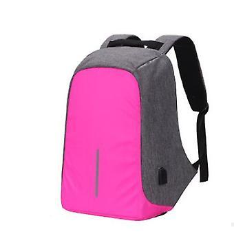 Multi-functional water resistant usb notebook backpack