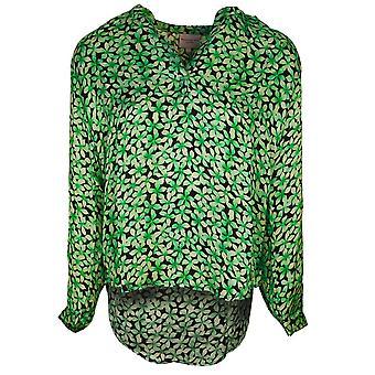 Primrose Park Green Floral V-neck Long Sleeve Lightweight Top