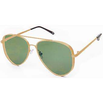 Sonnenbrille Unisex    Kat.3 gold/grün (19-202)