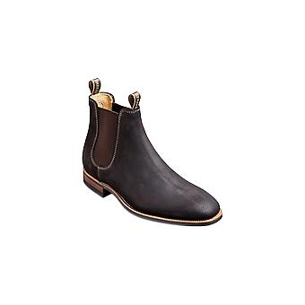 Barker Mansfield - Choc Burnish Suede - 12 | Mens Handmade Leather Chelsea Boots | Barker Shoes